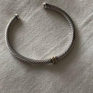 Cable Classic Center Station Bracelet w/ Diamonds